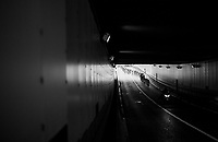 lingering peloton into tunnel<br /> <br /> 2017 National Championships Belgium - Elite Men - Road Race (NC)<br /> 1 Day Race: Antwerpen > Antwerpen (233km)