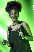 Joniece Jamison lors de la tournÈe 'Stars 80, 10 ans dÈj‡ !' au Palais Nikaia ‡ Nice, le samedi 18 mars 2017. # TOURNEE 'STARS 80 - 10 ANS DEJA !' A NICE