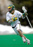 14 April 2007: University of Vermont Catamounts' Dan Zwirko, a Senior from Longmeadow, MA, in action against the University of Albany Great Danes at Moulton Winder Field, in Burlington, Vermont. The Great Danes defeated the Catamounts 14-7...Mandatory Photo Credit: Ed Wolfstein Photo