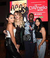 """LOS ANGELES - SEPT 2: (L) Avani Gregg, Madi Monroe, Markell Washington, and Sunisa Lee attend a screening of Hulu's """"The D'Amelio Show"""" at NeueHouse Rooftop Hollywood on September 2, 2021 in Los Angeles, California. (Photo by Frank Micelotta/Hulu/PictureGroup)"""