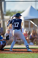 Izaac Pacheco during the WWBA World Championship at the Roger Dean Complex on October 19, 2018 in Jupiter, Florida.  Izaac Pacheco is a shortstop from Friendswood, Texas who attends Friendswood High School and is committed to Texas A&M.  (Mike Janes/Four Seam Images)