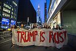 Anti-Trump protest in midtown Manhattan