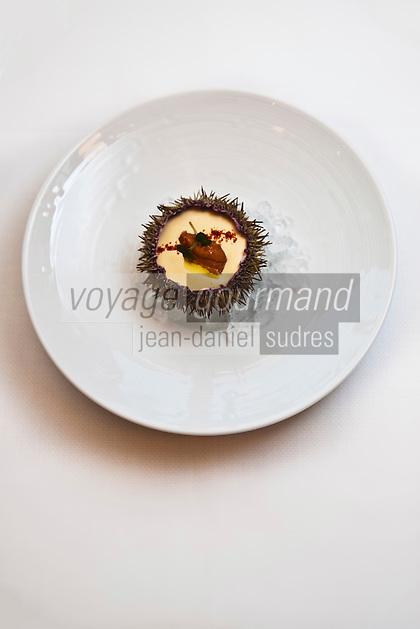 Amérique/Amérique du Nord/Canada/Québec/Montréal: Crème d'Oursin de Gaspésie, recette de Normand Laprise, Restaurant: Toqué!