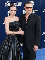 HOLLYWOOD, LOS ANGELES, CA, USA - MAY 28: Angelina Jolie, Brad Pitt at the World Premiere Of Disney's 'Maleficent' held at the El Capitan Theatre on May 28, 2014 in Hollywood, Los Angeles, California, United States. (Photo by Xavier Collin/Celebrity Monitor)