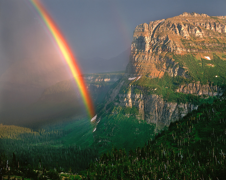 Rainbow in Logan Pass; Glacier National Park, MT
