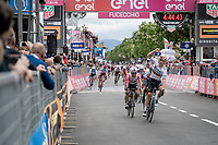 German National Champion Pascal Ackermann (DEU/BORA-hansgrohe) wins the first sprint finish of the 102nd Giro d'Italia 2019<br /> <br /> Stage 2: Bologna to Fucecchio (200km)<br /> <br /> ©kramon