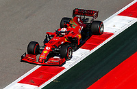 24th September 2021; Sochi, Russia; F1 Grand Prix of Russia free practise sessions;  16 Charles Leclerc MON, Scuderia Ferrari Mission Winnow, F1 Grand Prix of Russia at Sochi Autodro