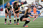 GER - Mannheim, Germany, May 25: During the U16 Girls match between The Netherlands (orange) and Germany (black) during the international witsun tournament on May 25, 2015 at Mannheimer HC in Mannheim, Germany. Final score 1-1 (1-0). (Photo by Dirk Markgraf / www.265-images.com) *** Local caption *** Emily Kerner #17 of Germany, Sonja Zimmermann #13 of Germany