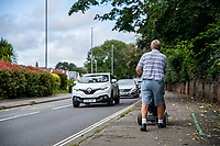 BNPS.co.uk (01202 558833)<br /> Pic: MaxWillcock/BNPS<br /> Date taken: 28/07/2021<br /> <br /> Pictured: A golfer (NOT RELATED TO THE CASE) on Lymington Road in Highcliffe, Dorset.<br /> <br /> Police hunting two women dubbed the 'Rolex Rippers' have released CCTV images of the prime suspects.<br /> <br /> The duo are believed to have targeted at least 21 elderly men in affluent areas of southern England for their expensive Rolex watches.