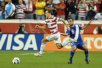 U.S defender Steve Cherundolo (6) goes past Jose Contreras..USMNT defeated Guatemala 3-1 in World Cup qualifying play at LIVESTRONG Sporting Park, Kansas City, KS.