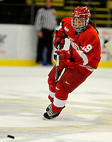 25 October 2008: Cornell University forward Hayley Hughes, a Sophomore from Stouffville, Ontario, in action against the University of Vermont Catamounts at Gutterson Fieldhouse, in Burlington, Vermont. The Big Red defeated the Catamounts 5-1 to sweep their 2-game series in Vermont...Mandatory Photo Credit: Ed Wolfstein Photo