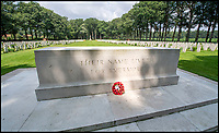 BNPS.co.uk (01202 558833)<br /> Pic: PhilYeomans/BNPS<br /> <br /> The CWGC cemetery at Oosterbeek near Arnhem contains 1523 graves.<br /> <br /> As the 75th anniversary of Operation Market Garden begins tomorrow, one of the original 'flower girl''s of Arnhem is still remembering...<br /> <br /> A heartwarming tale of dedication and rememberance has been revealed over a remarkable Dutch pensioner who still tends the grave of a fallen British Arnhem hero, 75 years after he perished in battle.<br /> <br /> Every year, Willemien Rieken (84) still lays flowers at Oosterbeek War Cemetery in memory of Trooper William Edmond, who was shot by a German sniper in the early stages of Operation Market Garden in 1944.<br /> <br /> Trp Edmond, of the elite 1st Airborne Reconnaissance Squadron's final words, uttered to two comrades who came to his aid, were 'tell my wife I love her'.<br /> <br /> Willemien was just nine years old when Oosterbeek became a bloody battleground in September 1944. The retired director's secretary, now aged 84, hid in a small cellar underneath her father's confectionary shop for five days while fierce fighting raged around their house and garden.<br /> <br /> Twenty-five of her family, friends and neighbours packed into the confined space and cowered in fear in the deafening din of shooting and explosions.<br /> <br /> After the war the grateful citizens of Arnhem arranged a poignant ceremony involving a nine year old Willimein and other school children from the town, to lay flowers at the graves of the British soldiers killed in the battle. <br /> <br /> And the dedicated pensioner is now one of the last survivors to still undertake the task.