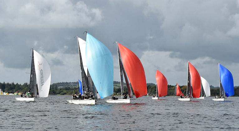 Whether the wind was light or fresh, the racing was close and often colourful