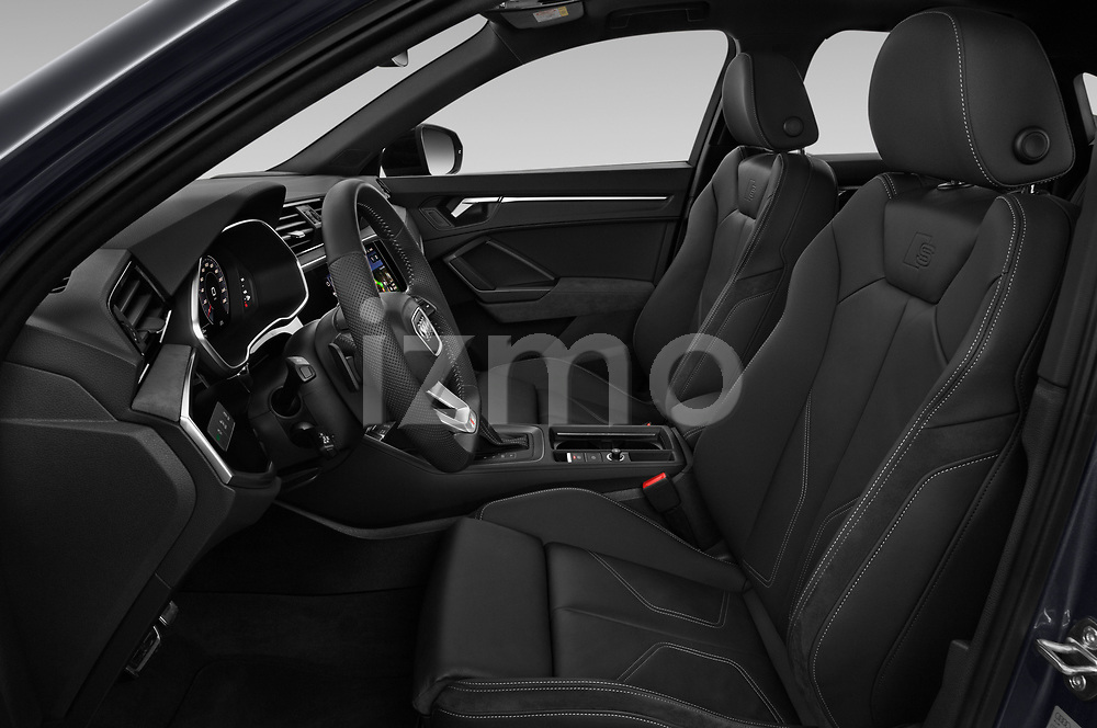 Front seat view of 2020 Audi Q3-Sportsback S-Line 5 Door SUV Front Seat  car photos