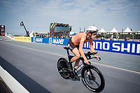 Ellen van Dijk (NED/Trek-Segafredo) at the race start in Knokke-Heist<br /> <br /> Women Elite Individual Time Trial from Knokke-Heist to Bruges (30.3 km)<br /> <br /> UCI Road World Championships - Flanders Belgium 2021<br /> <br /> ©kramon