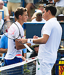 Milos Raonic (CAN) wins his first Citi Open after defeating fellow countryman Vasek Pospisil (CAN) in the final by 61 64 in Washington, DC on August 3, 2014.