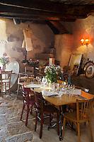 Europe/France/2B/Haute Corse/Pigna: Restaurant U Palazzu - la salle