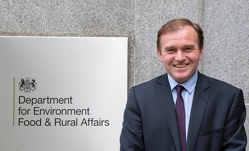 Britain's Secretary of State for Environment, Food and Rural Affairs George Eustice