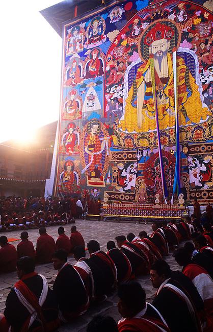 Giant Thangka, Punakha, Bhutan