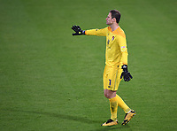 15th September 2020; Vitality Stadium, Bournemouth, Dorset, England; English Football League Cup, Carabao Cup Football, Bournemouth Athletic versus Crystal Palace; Asmir Begovic of Bournemouth encourages his team