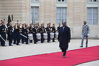Senegal's President Macky Sall arrives at the Elysee Palace during a visit in Paris as part of his state visit to France, December 20, 2016. # FRANCOIS HOLLANDE RECOIT MACKY SALL, LE PRESIDENT DU SENEGAL, A L'ELYSEE