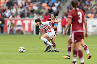 Houston, TX - Sunday April 08, 2018: Haley Hanson, Stephany Mayor during an International Friendly soccer match between the USWNT and Mexico at BBVA Compass Stadium.