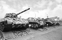 - Switzerland, the tank museum in Thun (Bern), German World War II tanks Panzer VI auf B Tiger II (Königstiger), Jagdpanther and Panzer V Panther.<br /> <br /> - Svizzera, il museo dei carri armati di Thun (Berna), carri armati tedeschi della Seconda Guerra Mondiale Panzer VI auf B Tiger II (Königstiger), Jagdpanther e Panzer V Panther.