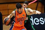 Liga ENDESA 2020/2021. Game: 11.<br /> Club Joventut Badalona vs Valencia Basket: 80-91.<br /> Nikola Kalinic vs Xabi Lopez-Arostegui.