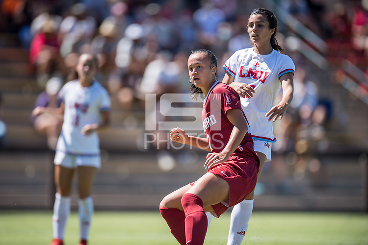 STANFORD, CA - SEPTEMBER 12: Emily Chiao during a game between Loyola Marymount University and Stanford University at Cagan Stadium on September 12, 2021 in Stanford, California.