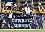 Dallas Cowboys fans watch the action at the Dallas Cowboys 2012 Training Camp which was held at the Marriott Resident Inn football fields in Oxnard, CA.