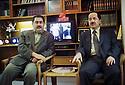 Irak 2000.Duhok: De gauche à droite, Hoshyar Zibari et Masoud Barzani.Iraq 2000.Duhok: Left to right, Hoshyar Zibari and Masoud Barzani