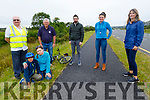 At the site of the orchid at the bypass on Tuesday<br /> Front left: Owais Shaikh and Josia Horajska.<br /> Back l to r: Tim Guiheem, Joe Moynihan (Tralee Tidy Together), Anluan Dunne, Jessica Hamilton and Martha Farrell.