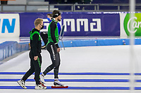 28th December 2020; Thialf Ice Stadium, Heerenveen, Netherlands; World Championship Speed Skating; 1000m men Kjeld Nuis r disappointment during the WKKT