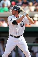 Detroit Tigers Clete Thomas #34 during a exhibition game vs. the Florida Southern Mocs at Joker Marchant Stadium in Lakeland, Florida;  February 25, 2011.  Detroit defeated Florida Southern 17-5.  Photo By Mike Janes/Four Seam Images
