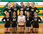 February 2, 2017- Tuscola, IL- The 2017 Tuscola Hornet Volleyball 8th grade team. Standing from left are Kaitlyn Reifsteck, Hannah Hornaday, Marissa Russo, Kendal Morgan, and Hope Dietrich. Kneeling from left are Ava Cothron, Riya Patel, Laney Cummings, Kendyl Ring, and Jessie Martin. [Photo: Douglas Cottle]