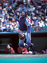 New York Mets Gary Carter(23) in action during a game from the 1986 season against the Philadelphia Phillies at Veterans Stadium in  Philadelphia, Pennsylvania.  Gary Carter played for 19 years with 4 different teams and was inducted to the Baseball Hall of Fame in 2003.David Durochik/SportPics