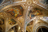 The Spanish Baroque sytle chapel roof of The Amalfi Cathedral, Italy