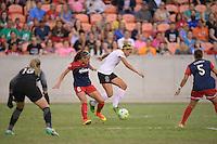 Houston, TX - Sunday Oct. 09, 2016: Shelina Zardorsky, Lynn Williams during the National Women's Soccer League (NWSL) Championship match between the Washington Spirit and the Western New York Flash at BBVA Compass Stadium.