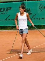 August 4, 2014, Netherlands, Dordrecht, TC Dash 35, Tennis, National Junior Championships, NJK,  Kim Hansen (NED)<br /> Photo: Tennisimages/Henk Koster