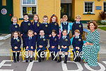 ALison Coffey with her Junior Certs in Loughquittane NS Killarney on Wednesday front row l-r: Lily O'Shea, Eve Browne, Kylie O'Connor, Cliona Hegarty, Aine O'Brien, Darragh Murphy. Back row: Holly Moriarty, Noah Barry-Hurley, Clodagh Walsh, Max O'Callaghan, Ellie O'Donoghue, Lauren Kelly and Luke Hannon