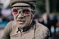 Christopher Juul-Jensen's (DEN/BikeExchange) post-race face<br /> <br /> 118th Paris-Roubaix 2021 (1.UWT)<br /> One day race from Compiègne to Roubaix (FRA) (257.7km)<br /> <br /> ©kramon