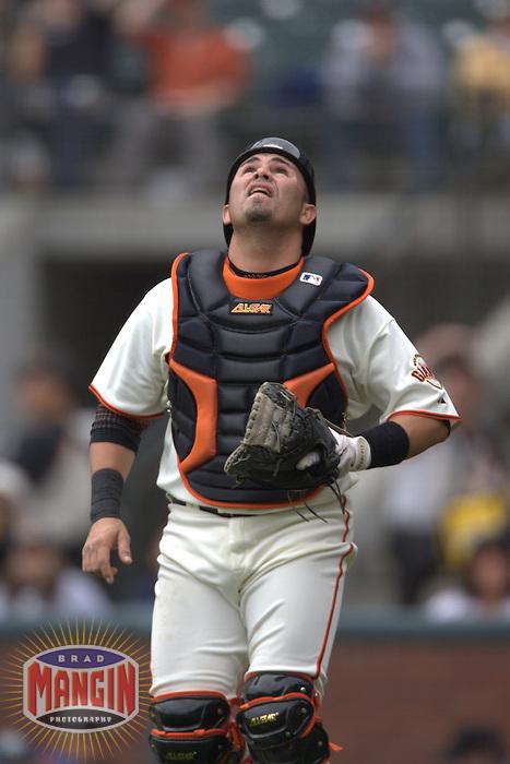 Eliezer Alfonzo. Baseball: Pittsburgh Pirates vs San Francisco Giants at AT&T Park in San Francisco, CA on June 11, 2006. Photo by Brad Mangin