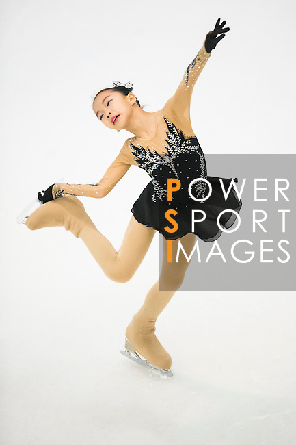 Figure skater competes in the during the Asian Junior Figure Skating Challenge 2015 on October 07, 2015 in Hong Kong, China. Photo by Aitor Alcalde/ Power Sport Images