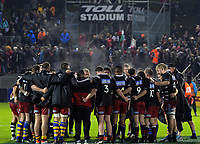 The Barbarians team huddles after the 2017 DHL Lions Series rugby union match between the NZ Provincial Barbarians and British & Irish Lions at Toll Stadium in Whangarei, New Zealand on Saturday, 3 June 2017. Photo: Dave Lintott / lintottphoto.co.nz
