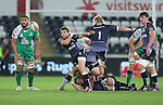 Ospreys scrum half Martin Roberts whips the ball away from the breakdown.<br /> Guiness Pro12<br /> Ospreys v Connacht<br /> Liberty Stadium<br /> 31.10.14<br /> ©Steve Pope-SPORTINGWALES