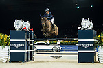 Clarissa Lyra of Hong Kong riding Catokia competes in the Longines Speed Challenge during the Longines Masters of Hong Kong at AsiaWorld-Expo on 10 February 2018, in Hong Kong, Hong Kong. Photo by Diego Gonzalez / Power Sport Images