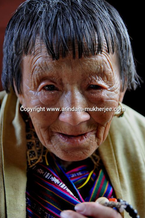 An old lady from Thimpu, Bhutan. Arindam Mukherjee..