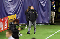 NASHVILLE, TN - SEPTEMBER 23: Head coach Gary Smith of Nashville SC walks to the bench before a game between D.C. United and Nashville SC at Nissan Stadium on September 23, 2020 in Nashville, Tennessee.
