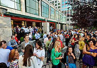 Photography of Charlotte NC's Alive After Five event, the largest weekly happy hour and free entertainment celebration in the Center City. Images taken at the Wells Fargo Plaza celebration in April 2012.