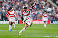 Japan Full Back Ayumu Goromaru kicks a Penalty - Mandatory byline: Rogan Thomson - 03/10/2015 - RUGBY UNION - Stadium:mk - Milton Keynes, England - Samoa v Japan - Rugby World Cup 2015 Pool B.